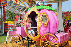 Pumpkin princess fairground ride Royalty Free Stock Photography