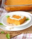 Pumpkin pudding Stock Photo
