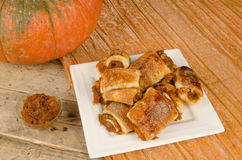 Pumpkin puff pastry Royalty Free Stock Photo