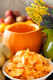 Pumpkin Pulp For Soup Royalty Free Stock Photo