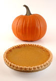Pumpkin and pumpkin pie Stock Image