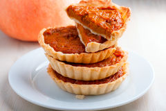 Pumpkin and Pumpkin pie Stock Images