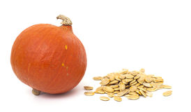 Pumpkin and pumpkin seeds Stock Photos