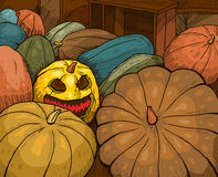 Pumpkin. S for Halloween holiday. Vector image of the layers Stock Photos
