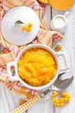 Pumpkin puree Royalty Free Stock Images