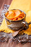 Pumpkin puree Royalty Free Stock Photos