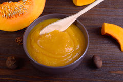 Pumpkin puree Stock Photography