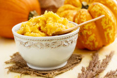 Pumpkin puree Royalty Free Stock Image