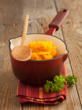 Pumpkin puree. Selective focus Royalty Free Stock Image