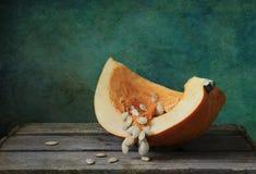 Pumpkin quarter Stock Image