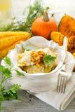 Pumpkin ravioli Stock Image