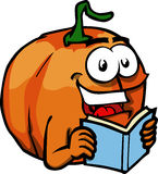 Pumpkin reading Stock Photos