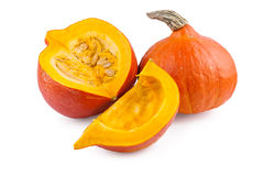 Pumpkin Red Hokkaido over White Royalty Free Stock Photos
