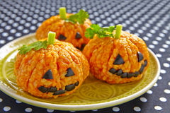 Free Pumpkin Rice Ball Jack O Lanterns Royalty Free Stock Images - 57501029