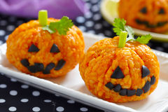 Free Pumpkin Rice Ball Jack O Lanterns Stock Photos - 57501043