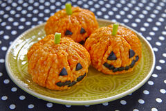 Free Pumpkin Rice Ball Jack O Lanterns Stock Photos - 57501223