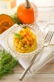 Pumpkin risotto Stock Photo