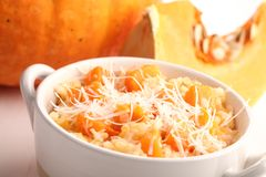 Pumpkin risotto Stock Photos