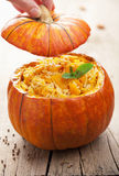 Pumpkin risotto Royalty Free Stock Photos