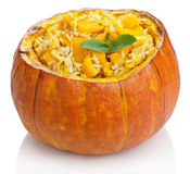Pumpkin risotto isolated Stock Photos