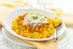 Pumpkin risotto Royalty Free Stock Images