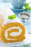 Pumpkin roll. Royalty Free Stock Photography