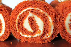 Pumpkin Roll Slices Stock Image