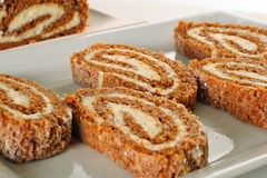 Pumpkin roll upclose Royalty Free Stock Photo