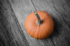 Pumpkin on Rustic Wood Stock Images