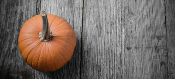 Pumpkin on Rustic Wood Royalty Free Stock Photo