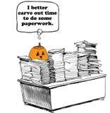 Pumpkin's Paperwork Royalty Free Stock Photos