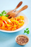 Pumpkin salad with flax seeds Stock Photo