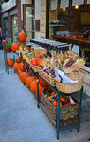 Pumpkin for sale before Halloween Stock Photography