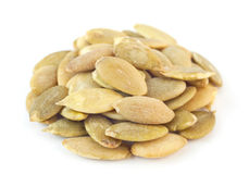 Pumpkin salted seeds Royalty Free Stock Photos