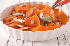 Pumpkin with salvia Stock Images