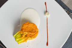 Pumpkin savory cupcake Royalty Free Stock Images