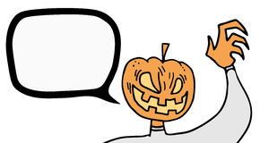 Pumpkin scare talk Stock Image