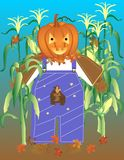 Pumpkin Scarecrow Stock Photos