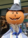 Pumpkin scarecrow for autumn festival in Arrowtown, New Zealand Royalty Free Stock Images