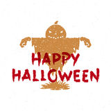 Pumpkin scarecrow vector illustration Stock Images