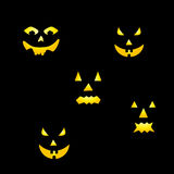 Pumpkin Scary faces. Scary faces of Halloween pumpkin Royalty Free Stock Photography