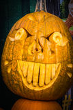 Pumpkin Scary Funny Face Expressive Comedy Halloween Holiday Out Royalty Free Stock Image