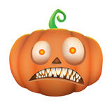 Pumpkin scary on white background Stock Photos