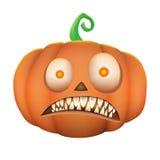 Pumpkin scary on white background. Illustration of pumpkin scary on white background Royalty Free Illustration