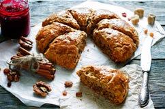 Pumpkin scones Stock Images