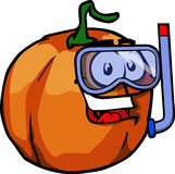 Pumpkin scuba diver Stock Images