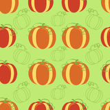 Pumpkin seamless background Stock Photo