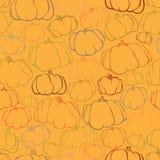 Pumpkin seamless orange pattern background Stock Photos