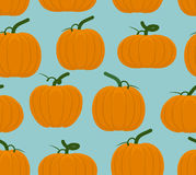 Pumpkin seamless pattern. Background of Orange Vegetables for Ha Royalty Free Stock Photography