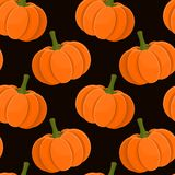 Pumpkin seamless pattern Stock Photography